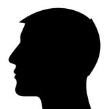 Man Head Silhouette. Isolated on white background Stock Images
