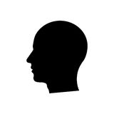 Man head silhouette Royalty Free Stock Photography