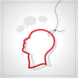 Man head  with tag Stock Images