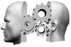 Man Head Thinking idea Gears Face Royalty Free Stock Photography