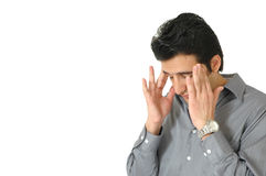 Man with Headache Stock Image