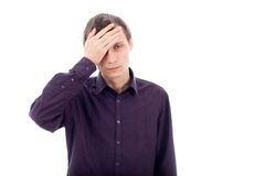 Man with headache Royalty Free Stock Images