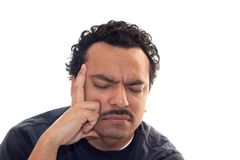 Man with headache Royalty Free Stock Image