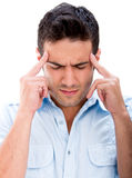 Man with a headache Stock Photography