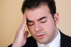 Man With a Headache Stock Photo