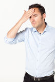 Man with headache Royalty Free Stock Photography