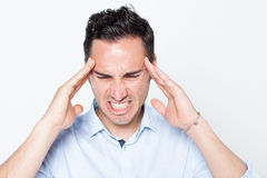 Man with headache Royalty Free Stock Photo