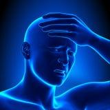 A Man with a Headache Royalty Free Stock Photos