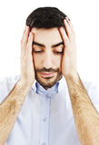 Man with a headache Stock Photography