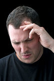 Man With Headache or Migraine Pain Royalty Free Stock Image