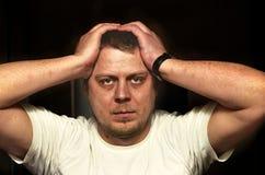 Man and a headache Royalty Free Stock Photos