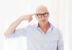 Man with a headache Royalty Free Stock Images