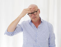 Man with a headache Royalty Free Stock Image