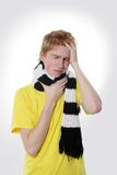 Man with a headache, suffering from flu, A(H1N1), Stock Photography