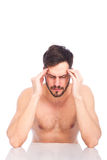 Man with headaches Stock Photography