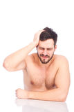 Man with headaches Stock Image