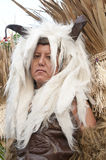 Man with headdress. Picture of a Man with headdress in a parade Stock Photos