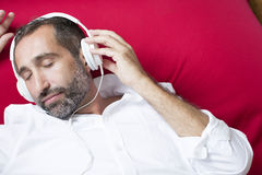 Man with headphone Stock Image