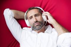 Man with headphone Royalty Free Stock Photo