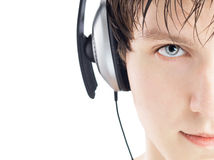 Man in headphones Royalty Free Stock Images