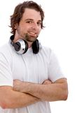 Man with headphones Royalty Free Stock Photography