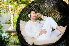 Man With Headphones Royalty Free Stock Images