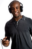 Man With Headphones Stock Image