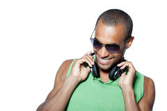 Man with headphones Stock Photography
