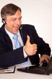 Man with headphones Stock Photo