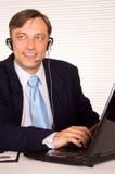 Man with headphones Stock Image