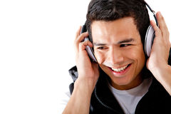 Man with headphones Stock Photos