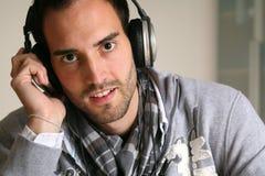 Free Man Headphones Stock Images - 9056744