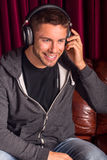 Man headphones Royalty Free Stock Images