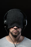 Man with headphones Royalty Free Stock Photo