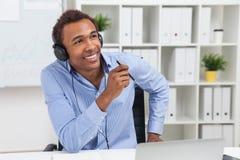 Man in headphones Stock Image