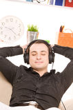 Man in headphones Royalty Free Stock Photo