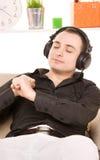 Man in headphones Royalty Free Stock Image