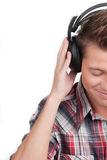 Man in headphones. Royalty Free Stock Photo