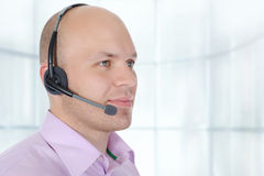 Man with a headset Stock Photo