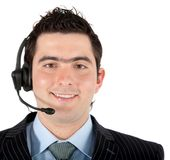Man with a headset Royalty Free Stock Photography