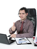 Man with a headset Stock Images