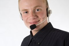 Man with headset 2 Stock Photography