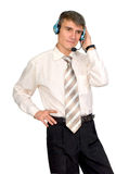 Man in the headset. Stock Photography