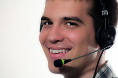 Man with headset Stock Image
