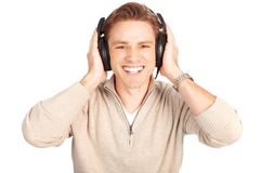 Man with headset Stock Photo