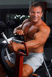 Man in a health club Royalty Free Stock Photography