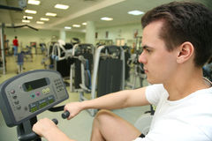 Man in health club Royalty Free Stock Photography