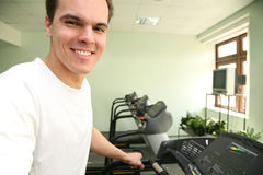 Man in health club Royalty Free Stock Photo