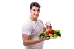 The man in healthy eating concept royalty free stock image