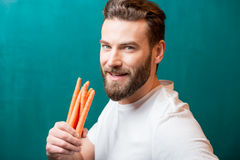 Man with healthy food Royalty Free Stock Photography